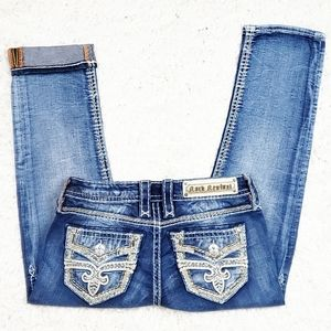 Rock Revival Arisa Crop Jean's.  Size 26.
